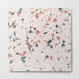 Terrazzo Peach Metal Print