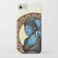 jedi iPhone & iPod Cases featuring Aayla jedi by Miguel Angel Carroza