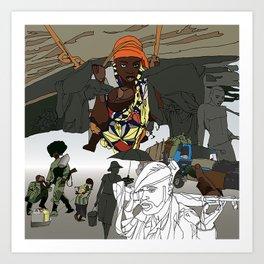 Chaos (1 of 3) Art Print