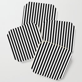 Stripe Black And White Vertical Line Bold Minimalism Stripes Lines Coaster