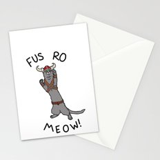 Fus Ro MEOW! Stationery Cards