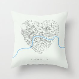 Streets of London Throw Pillow