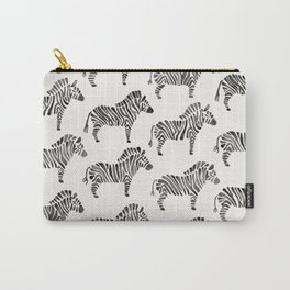 Zebras – Black & White Palette Carry-All Pouch