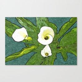 Calla Flowers Bouquet Canvas Print