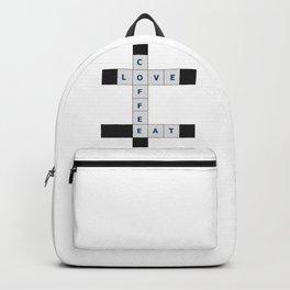 Love, Coffee, Eat crosswords Backpack