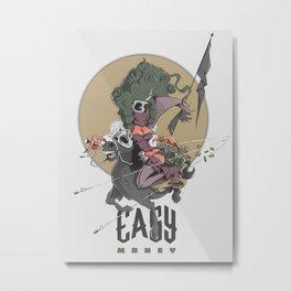Making Easy Money Metal Print