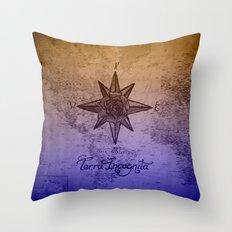 Terra Incognita Throw Pillow