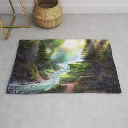 Magical Forest Stream Rug