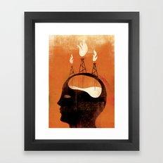 On the edge ... Framed Art Print