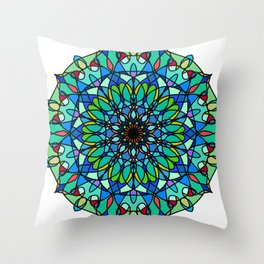 Magic mandala space object Throw Pillow