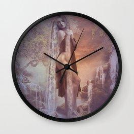 Sunset Falls Wall Clock