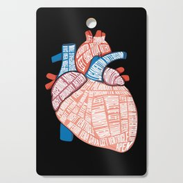 Anatomical Heart - For Cardiac Nurse Cardiologists Cutting Board