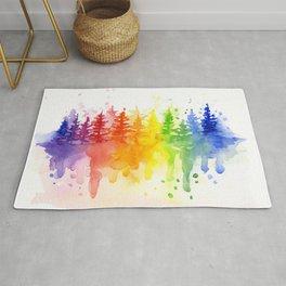 Rainbow Forest Rug