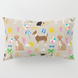 Chihuahua beach summer tropical cute chihuahuas dog gifts Pillow Sham