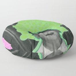 Listening The Bubbles Floor Pillow