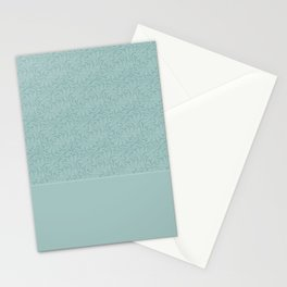 Warm , gray turquoise solid pattern . Stationery Cards