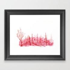 Sanguine Copse Framed Art Print