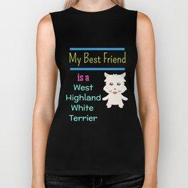 My Best Friend Is A West Highland White Terrier Biker Tank