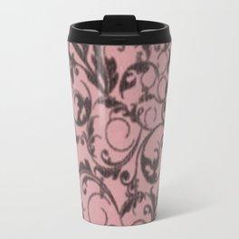 Vintage Swirls Bridal Rose Travel Mug