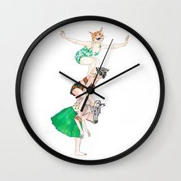 Leapfrog - Cat, Zebra and Lemur Wall Clock