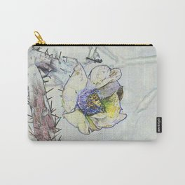 Cacti Flower Drawing Carry-All Pouch