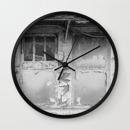 Painted over Windows Abandoned Roadside Shop Lincoln Highway Ohio Wall Clock