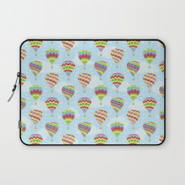 Colorful Hot Air Balloons Going Up Laptop Sleeve