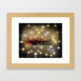 Boat on the River Framed Art Print