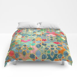 Gilt & Glory - Colorful Moroccan Mosaic Comforters