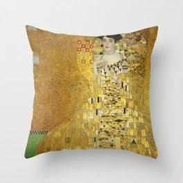 Gustav Klimt - Portrait of Adèle Bloch Bauer Throw Pillow