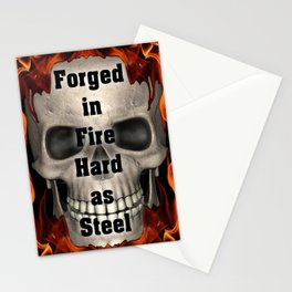 Forged in Fire Skull Stationery Cards