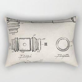 Judge Gavel Patent - Lawyer Art - Antique Rectangular Pillow