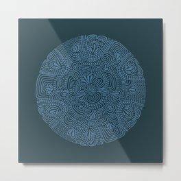 Primitive Blue Circle Metal Print