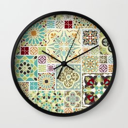 Moroccan Tile Pattern II Wall Clock