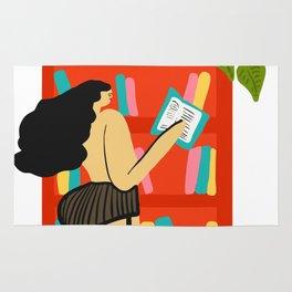 Girl Reading Rug