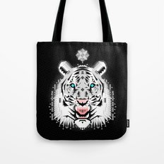 Silver Geometric Tiger Tote Bag