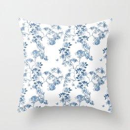 Chinoiserie in White Throw Pillow