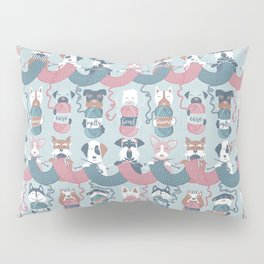 Knitting dog feelings I Pillow Sham