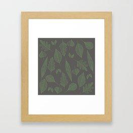 Falling Leaves Pattern I Dark Framed Art Print