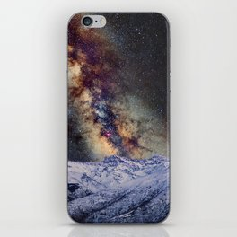 The star Antares, Scorpius and Sagitariuss over the hight mountains. The milky way. iPhone Skin
