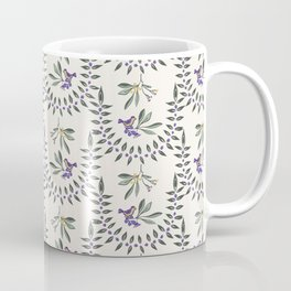 Natural Olive Leaf Berry Birds on Branch Coffee Mug