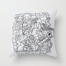 Floating island party Throw Pillow