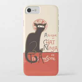 A French Ninja Cat (Le Chat Ninja) iPhone Case