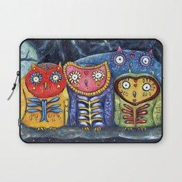 Dia de Muertos Owl Party Laptop Sleeve