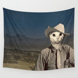 Rhinestone Cowboy cat Wall Tapestry