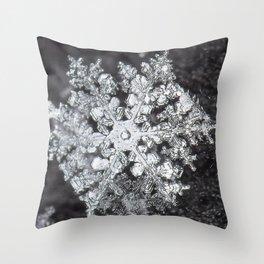 Sowflake closeup #4 Throw Pillow