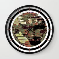 pilot Wall Clocks featuring Orion's Pilot by David Lee