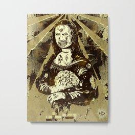 Moan-a-Lisa Metal Print