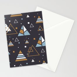 Polar Trees Abstract Stationery Cards