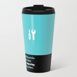 Lab No. 4 - Just improving your product Joel Spolsky Corporate Startup Quotes Poster Travel Mug